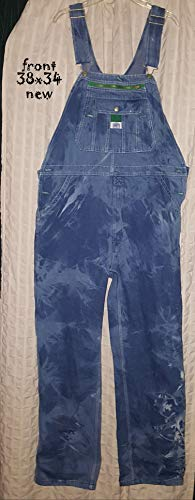 Custom dyed Liberty overalls (new) Mens sized 38 x 34