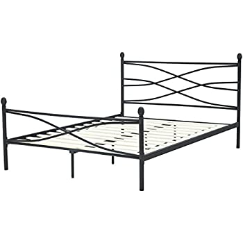 this item hanover hbedsoho qn soho metal platform bed frame queen black