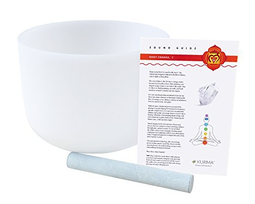 Root Chakra Crystal Singing Bowl C Note Suede Mallet for sale  Delivered anywhere in USA