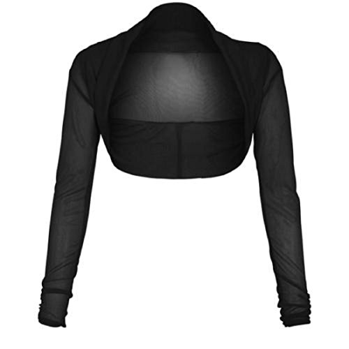 a donna da taglie maniche da a chiffon Black XL in Coprispalle lunghe S 54qvc6vT