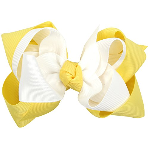- 5 Inch Double Layer Hair Bow With Clips Girls Hairpins Grosgrain Ribbon Hair Bows Kids Party Hair Accessories 10