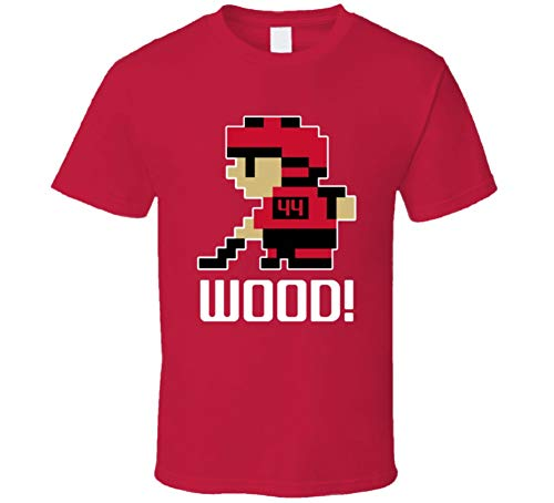 Miles Wood # 44 Tecmo New Jersey Hockey Athlete Fan T Shirt M Red