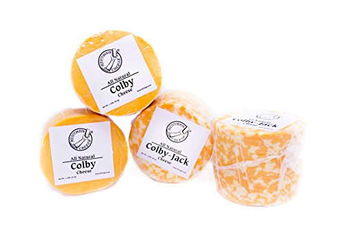 Perfect Partners Wisconsin Colby and Colby Jack Cheese Box, 5 Pound (Pack of 4)