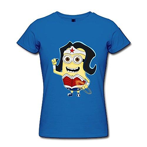 Price comparison product image FHY Women's Wonder Woman Minions T-shirts Medium RoyalBlue