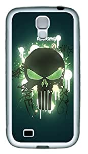 Skull TPU Rubber Soft Case Cover For Samsung Galaxy S4 SIV I9500 White