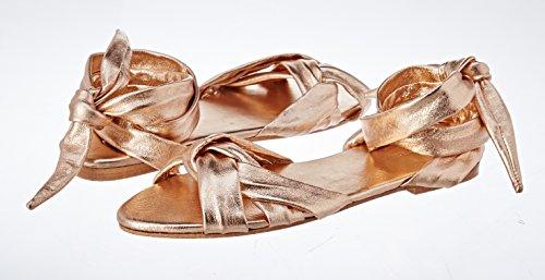Adelia, Sandales Bout Ouvert Femmes, Or (Gold), 41 EUAntik Batik