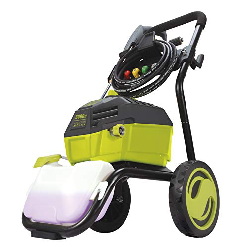 Sun Joe SPX4600 3000 PSI MAX 1.30 GPM High Performance Induction Pressure Washer, Green