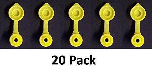 JSP Manufacturing Yellow GAS CAN VENTS- Pick a Pack Yellow Fuel Gas Can Vent Cap Chilton Briggs Rotopax Gott Anchor Multipack Pricing (Non Vented Dryer)