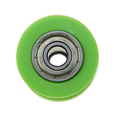 WOOSTAR 8mm Chain Roller Slider Tensioner Wheel Guide for Chinese Dirtbike Pit Bike Motocycle (Green): Automotive