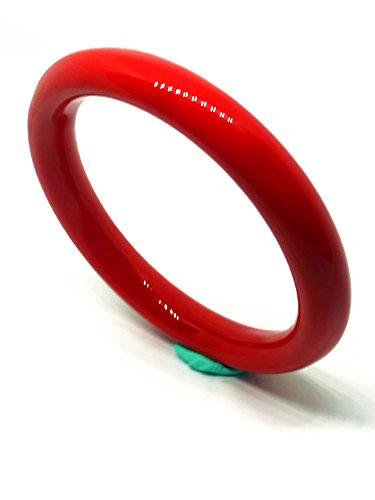 Women Vintage Red Coral Bangle Diameter 60mm Red Coral Bangle