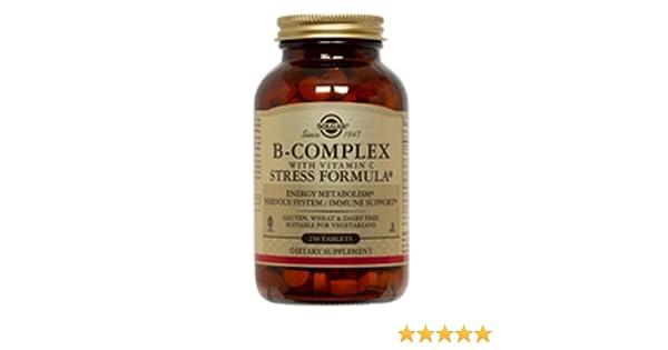 Solgar Vitamina B-Complex con Vitamina C Comprimidos - Envase de 250: Amazon.es: Salud y cuidado personal
