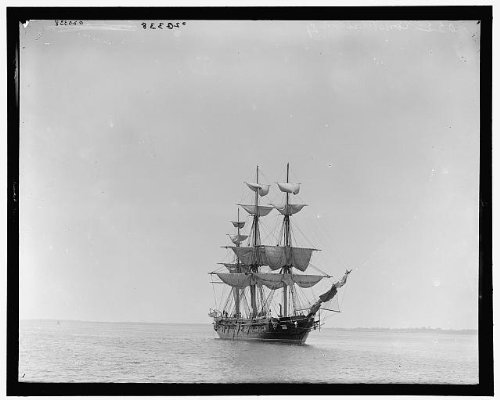 HistoricalFindings Photo: USS Constellation,frigate,American warships,Detroit Publishing Company,1890 2