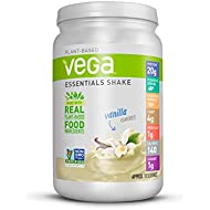 Vega Essentials Protein Powder, Vanilla, Plant Based Protein Powder Plus Vitamins, Minerals and Antioxidants - Vegan, Vegetarian, Keto-Friendly, Gluten Free, Dairy Free (18 Servings, 1lb 5.9oz)