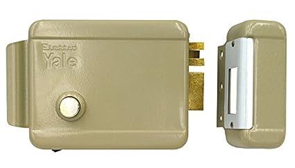 Cerradura eléctrica de sobreponer para puerta madera Art. 674 con pestillo azionabile retraído externo mediante