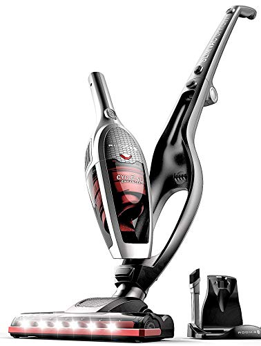 ROOMIE TEC Cordless Vacuum Cleaner, 2 in 1 Handheld Vacuum, High-Power 2200mAh Li-ion Rechargeable Battery, with Corner Lighting and Upright Charging Base (Renewed)