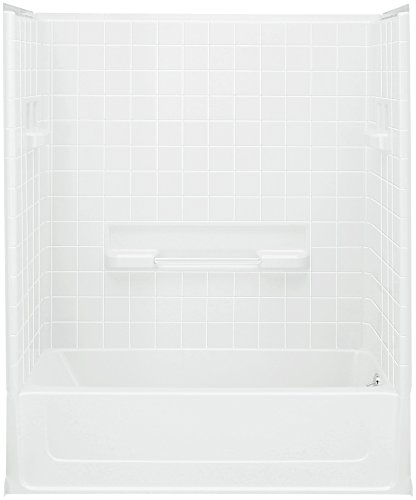STERLING 61040120-0 All Pro Bath and Shower Kit, 60-Inch x 30-Inch x 73.5-Inch, Right-Hand, White