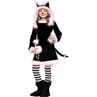 Fun World Big Girl's Baby Girl's Pretty Kitty Toddler Costume Childrens Costume, Multi, Medium