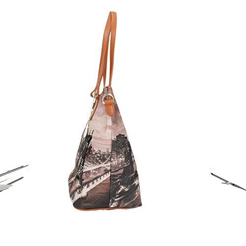 L Y 397 K East New Zip Bag Not River Marròn Tan Shopping York Borsa Gold Xnr1XRS