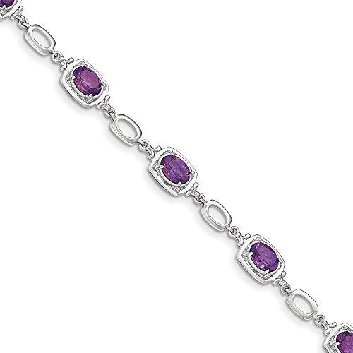 7,9 mm en argent Sterling, Bracelet lien-JewelryWeb