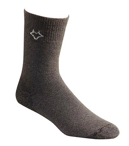 FoxRiver Men's Wick Dry Tramper Crew, Dark Charcoal, Large (Socks River Fox Wool)