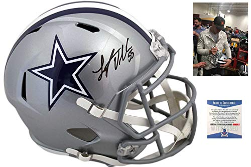 Dallas Cowboys Leighton Vander Esch Autographed Signed Helmet - Beckett Authentic