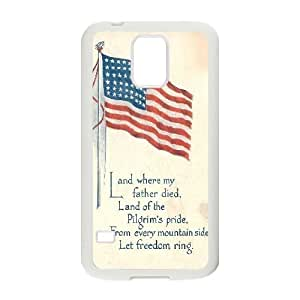 American Flag Customized Cover Case for SamSung Galaxy S5 I9600,custom phone case ygtg-773717
