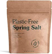 Only Spring Salt – Coarse Grain - For Grinder Refill and Pinching - Kosher - Organic, Toxin-Free Salt – 7oz Po