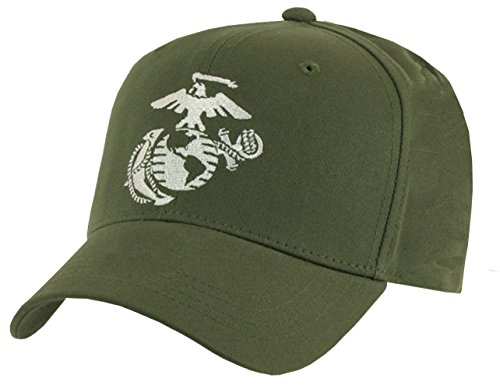 Rapid Dominance 6 Panel Military Embroidered Cap by (US Marine Corps, Olive)