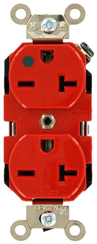 Leviton 8400 R 20 Amp 250 Volt Wide Body Duplex Receptacle