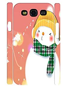 Beautiful Vogue Snowman Pattern Slim Phone Shell Case for Samsung Galaxy S3 I9300