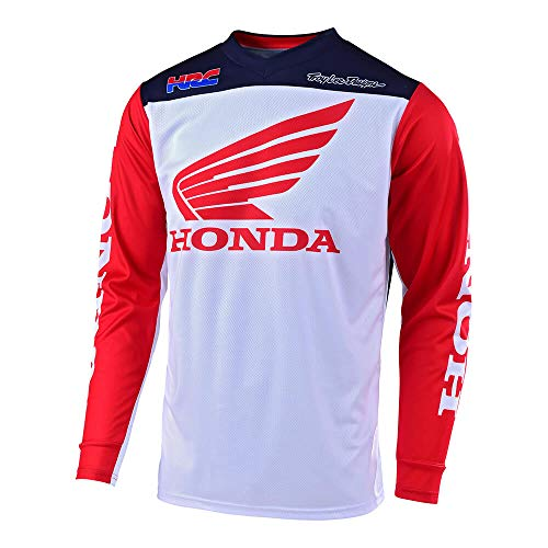 Troy Lee Designs Official Licensed Mens Honda Off Road Motocross GP Jersey (White/Navy, XX-Large)