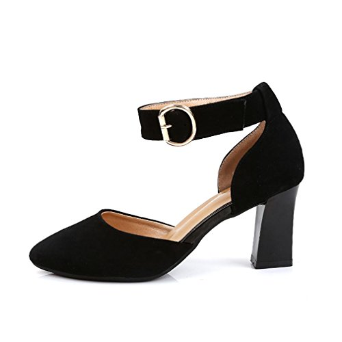 Ankle Onecolor Samba Leather Dance Adult Female Jazz of high Sandals Dance Shoes Bottom Shoes Modern BYLE Heeled Four Black Latin Seasons Soft Leather Strap Sandals The xnEqfIv4