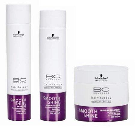 Schwarzkopf BC Bonacure Hairtherapy Smooth Shine Beauty Set, 3 pc (Shampoo Bonacure Shine Smooth)