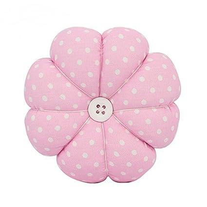 Besplore Pin Cushion Polka Pumpkin Wrist Pin Cushions Wearable Needle Pincushions, Pink