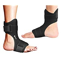Copper Compression Plantar Fasciitis Night Splint - Drop Foot Brace and Dorsal Planter...