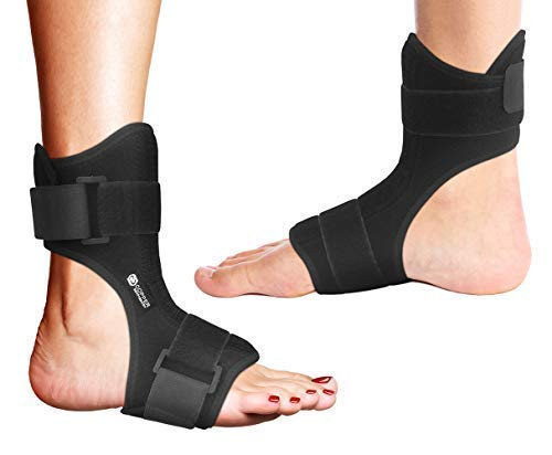Copper Compression Plantar Fasciitis Night Splint - Drop Foot Brace and Dorsal Planter Fasciitis Night Splint for Right or Left Foot. Night Splints Support Sleep, Recovery, Tendonitis, Arthritis