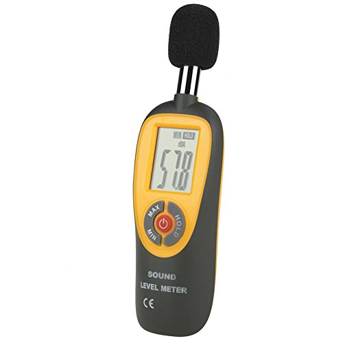 Decibel Meter, Digital Sound Level Meter 30 – 130 dB Audio Noise Measure Device Dual Ranges HT-90A by Wal front