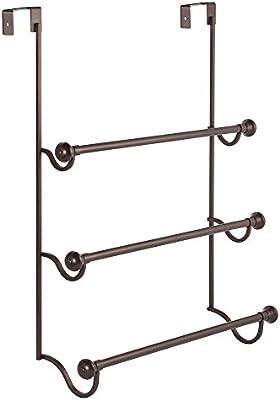 Superieur Amazon.com: InterDesign York   Over The Shower Door 3 Bar Towel Rack    Bronze/Matte Bronze   4.75 X 17.75 X 22.5 Inches: Home U0026 Kitchen