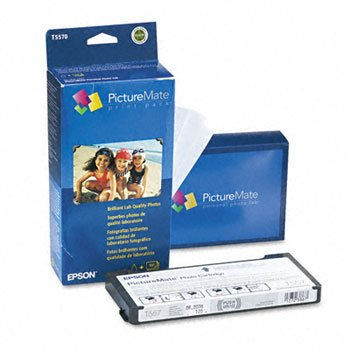 PictureMate™ Print Pack KIT,INK,PAPER,100 SHTS 0369JC (Pack of3) (Epson Picturemate T5570 Ink)