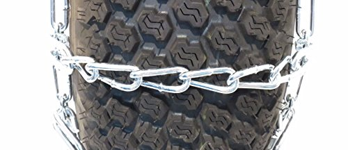 The ROP Shop Pair 4 Link TIRE Chains 29x12x15 for Kubota Lawn Mower Garden Tractor Rider