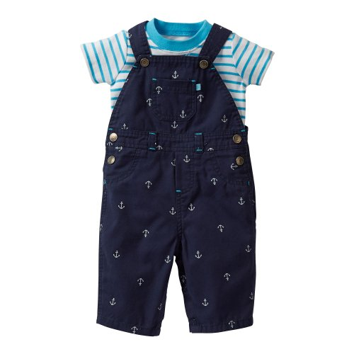 Carter's Baby Boys' 2 Piece Overalls Set (Baby) - Blue - 3 Months
