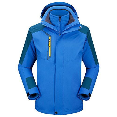 Jacket Coat Autumn Fleece Winter Light Ski SoftShell Jacket LaoZan 3 Waterproof in Rain Blue Spring Hoodie 1 qzw7p6