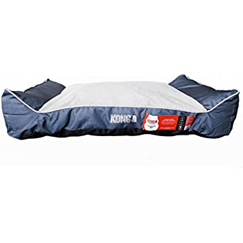 Amazon.com : KONG Lounger Dog Bed - Blue - Chew Resistant