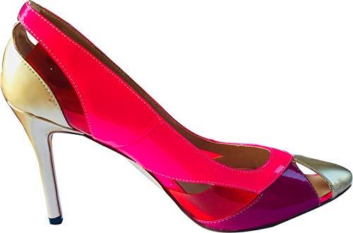 Aadrink Aiguille Femme 10cm Multicolore Sur Arraysa Chaussures Escarpins Glisser wAF4g4nq
