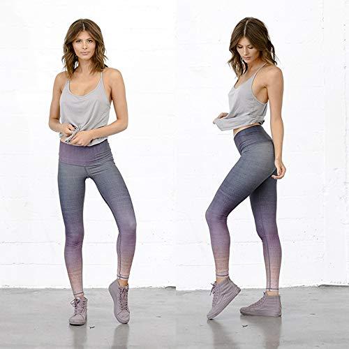 Stampa Alta Pantacollant Da Ojjfj Viola E Sportivo Vita Sfumata Dark Scuro Purple Jogging Yoga Pantalone Colori Con A dIg7zgvwq
