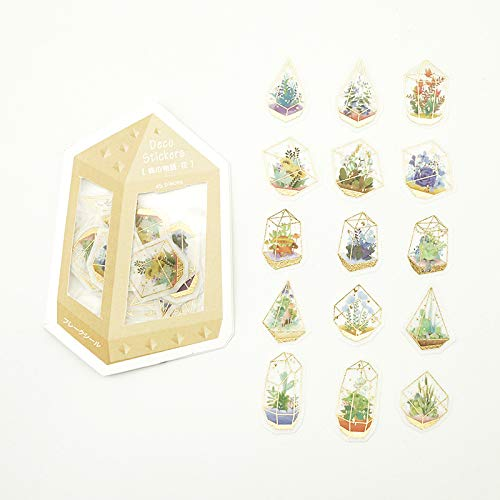BGM - Flake Stickers - Flake Seal Foil Stamping - Forest Story/Flower (Washi Tape Material)