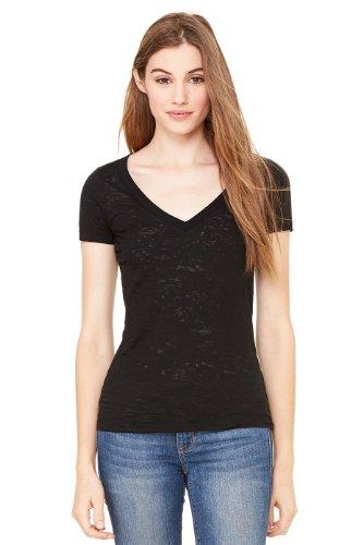 Bella mujer sencillo AusführungT-camiseta negro