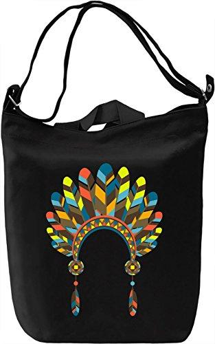 Indian headdress Borsa Giornaliera Canvas Canvas Day Bag  100% Premium Cotton Canvas  DTG Printing 