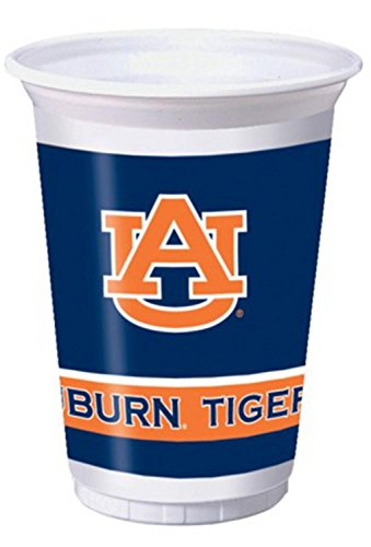 96 NCAA Auburn University Tigers Plastic Drinking Tailgate Party Cups - 20 oz. by Party Central