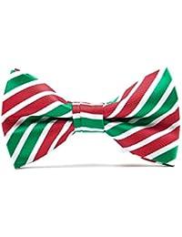 Christmas Bowties for Men Polyester Bow Tie Pre-Tied Xmas Neckwear Snow Tree Pattern